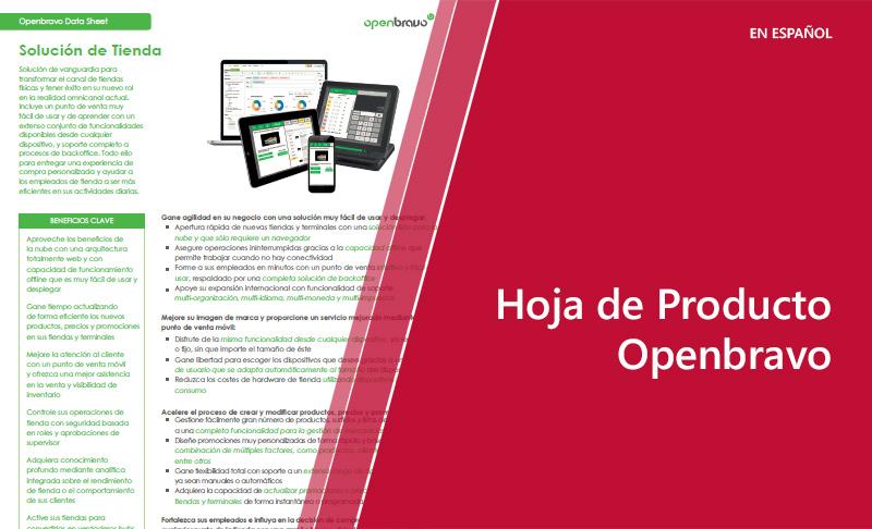 Hoja de Producto: Openbravo (en español)