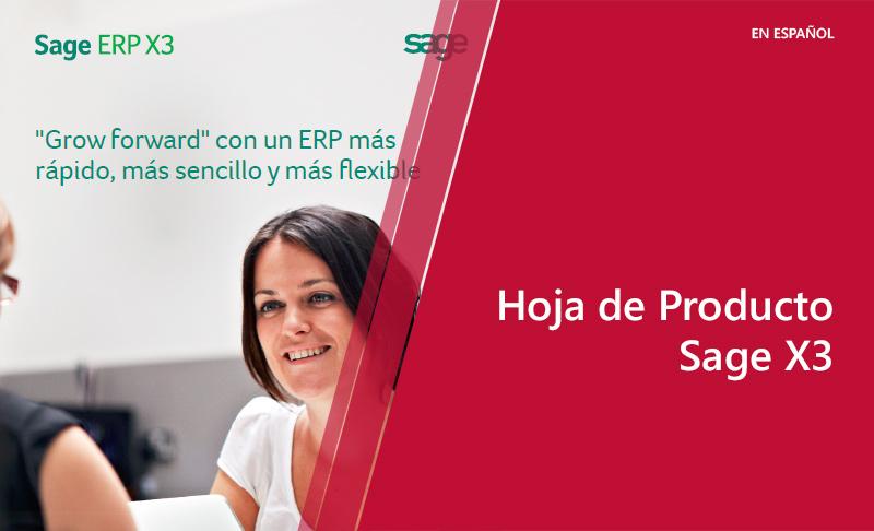 Hoja de Producto: Sage X3 (en español)