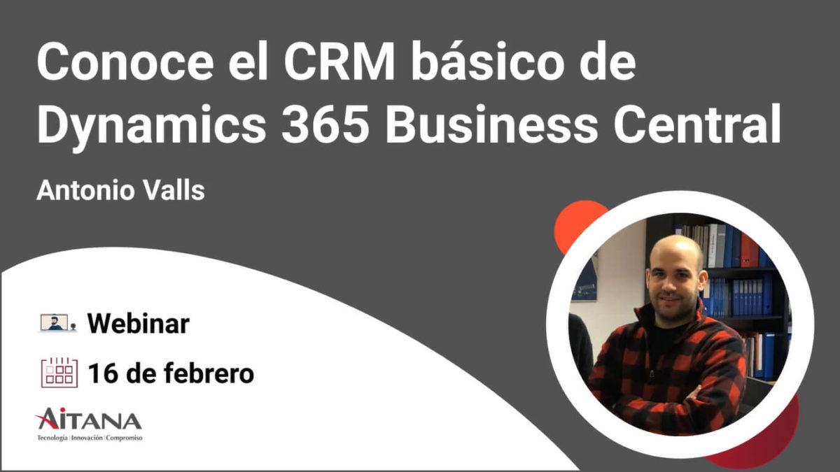 Webinar Conoce el CRM básico de Dynamics 365 Business Central