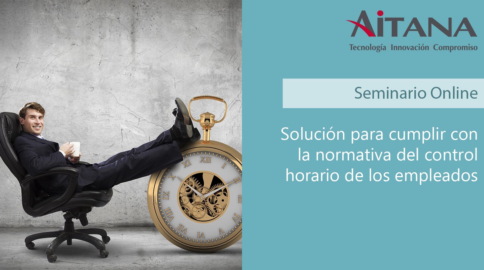 Solución para cumplir con la normativa del control horario de los empleados